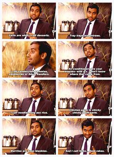 Aziz Ansaris food dictionary - I don't know who this is or the reference, but gawd I love these substitutes!
