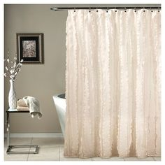 Modern Chic Shower Curtain   Ivory