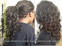 Tree Braids in individual treebraids, medium size. All grown up and joining the work force soon haaaa! Love her and her spirit! Beginners: LEARN how to do individual treebraids and more before the Fall rush: http://www.upalmit.com/braidstraining.html