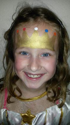 mooie kroon voor koningsdag maar kan natuurlijk ook voor kleine prinsesjes.