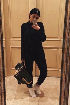 Kylie Jenner wearing Louis Vuitton Bosphore Backpack
