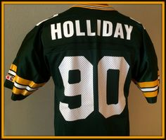 VINTAGE GREEN BAY PACKERS VONNIE HOLLIDAY CHAMPION JERSEY ADULT SMALL 36 NWOT #Champion #GreenBayPackers