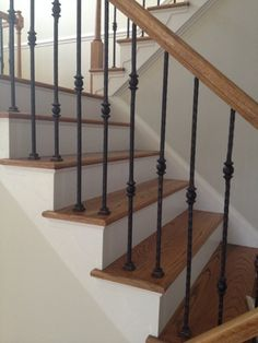 How To Replace Wood Stair Spindles Or Balusters With Wrought Iron | Stair  Spindles, Wood Stairs And Wrought Iron