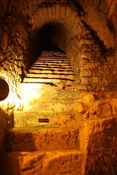 Tattinger, Reims  old monastery stairs