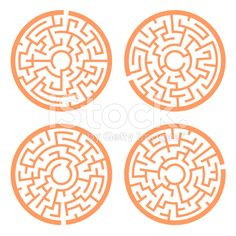 orange circular maze set isolated on white background Play Wood, Labyrinth Maze, Printable Mazes, Greek Pattern, Wood Games, Woodworking For Kids, Cnc Projects, Diy Cardboard, Wood Toys