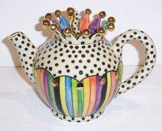 "Julia Roxburgh ~ ""Jester"" ceramic teapot"