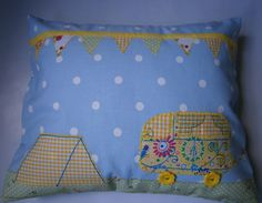 JULY 2012, Holidays - For the Love of Camping, cushion., by Maisy Lee Designs, £15