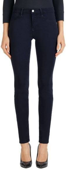 Please click on the picture to go to the detail page.  485 Mid-Rise Super Skinny Pant in Dark Navy