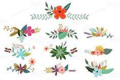 vector vintage flower cluster png - Google Search