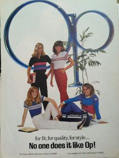 "OP Ocean Pacific ad, 1983, Seventeen Magazine, ""for fit quality and style, No one does it like OP! "", Gardena, California"