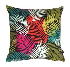 Our lovely Tropic Cushion features a tropical leaf pattern in a vibrant design. The fabric is medium-weight, printed with bright colours. For the less adventuro