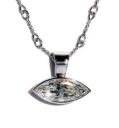 I like this chain- Marquise Diamond Bezel Pendant