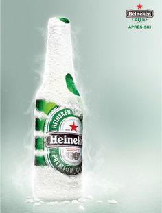 Heineken Snow Ad - Heineken beer helps relax after skiing and snowboarding