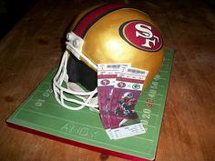 49ers Football Helmet Cake