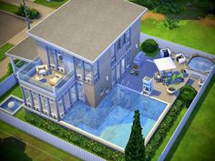 the family dream house is perfect for Found in TSR Category 'Sims 4 Residential Lots' Sims 4 Family House, Sims 4 Modern House, Sims 4 House Design, Sims 4 House Plans, Sims 4 House Building, Sims 4 Ps4, Sims 3, Sims3 House, Lotes The Sims 4