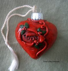polymer clay heart by Trina Prenzi