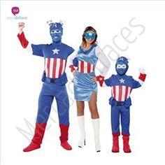 #Disfraces originales de #Capitán #América en grupo #mercadisfraces tienda de #disfraces online, #disfraces #originales y baratos para tus fiestas de #carnaval o #halloween