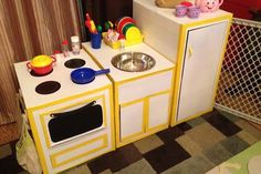 Cardboard Kitchen By Hillary Gilmore of Happiness and Living Fab