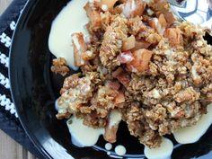 Kaura-omenapaistos ja vaniljakastike