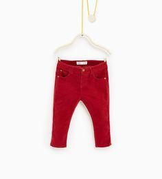 Pantalon en velours côtelé basic-JUPES ET PANTALONS-Bébé fillette-Bébé | 3mois-3ans-ENFANTS | ZARA France