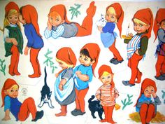 Vintage Christmas Paper Dolls  Elves/Pixies by REdesignkc on Etsy,