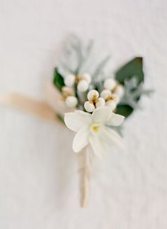 the texture of Dusty Miller adds to the muted tones of this lovely boutonniere