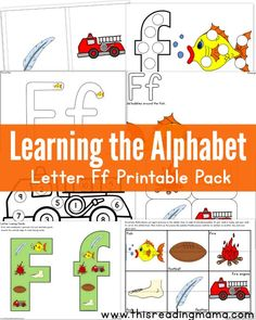 Learning the Alphabet: Letter F Printable Pack
