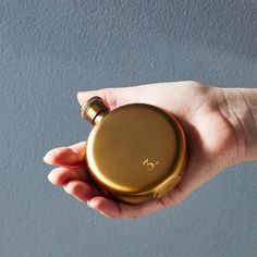 Round Gold Flask