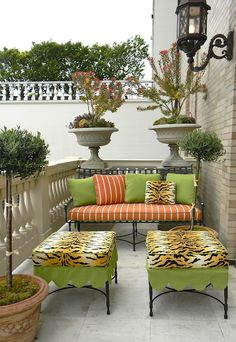 Outdoor cushions.