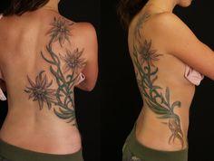 Edelweiss kowhai flower tattoo design by studio41nz via for Maryland tattoo ideas