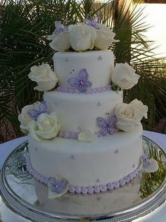 Purple White Round Wedding Cakes Photos & Pictures - WeddingWire.com