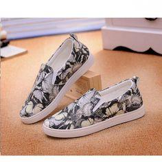 Mulheres apartamentos sapatos primavera casual plano deslizamento em sapatos para as mulheres mocassins senhoras impressão mulheres calçados casuais 2016 nova DT255 em Sapato baixo de Sapatos no AliExpress.com   Alibaba Group