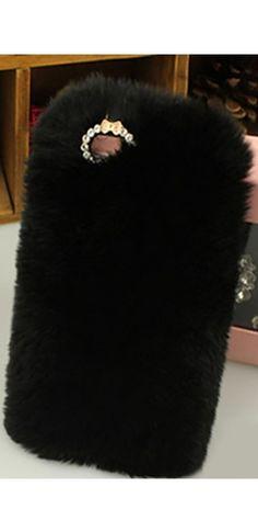 Black Faux Fur Rhinestone Trim Phone Case Cover Phone Covers, Faux Fur, Black, Mobile Covers, Black People, Phone Case