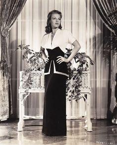 Vera Zorina 1941 evening dress