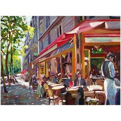 Trademark Art Paris Cafe Canvas Wall Art by David Lloyd Glover, Size: 18 x 24, Multicolor