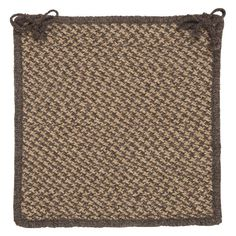 Colonial Mills Natural Wool Houndstooth 15 in. Chair Pad