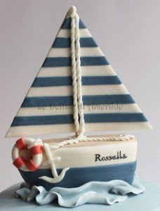 Sailor cake from www.Collected below are fifteen sailboat inspired cakes that you'll definitely want to check out! Sailboat cakes are great for a variety of parties and events. From baby showers to birthday parties, th. Nautical Cake, Nautical Party, Sailor Cake, Sailor Theme, Marine Cake, Boat Cake, Cupcakes Decorados, Sea Cakes, Decorated Cookies