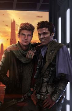 Young Han and Lando WORDS CANNOT DESCRIBE HOW AWESOMELY AMAZING THIS IS!!!! WHo is the artist?!