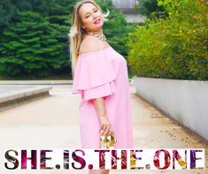 """""""She Is The One"""" – Ema Dulakova is a young and stylish Slovenska Blogerka. She inspires the peoples with her unique fashionable lifestyle and always gives her own ideas over beauty and fashion. Shoulder Dress, Lifestyle, Stylish, Unique, People, Inspiration, Beauty, Ideas, Dresses"""