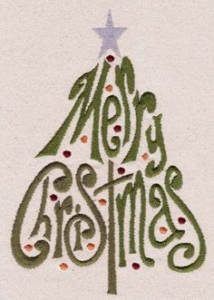 "COMPLETED: ""Merry Christmas Tree"" machine embroidery pattern for free. [I used this on Bar Mop towels as christmas gifts to co-workers. Great for a little accent in the powder room. It was fast to stitch out - only 4 colors and only a lttle bit of cutting Machine Embroidery Projects, Machine Embroidery Applique, Free Machine Embroidery Designs, Embroidery Monogram, Embroidery Fonts, Hand Embroidery, Embroidery Ideas, Brother Embroidery, Christmas Embroidery"