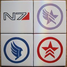 Mass Effect Alignment Coaster by 8BitLane on Etsy, $20.00