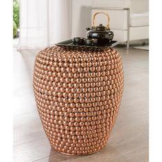 Dot Stool Copper - Helemaal hip in trendy koper. Handgemaakt van honderden bolletjes van metaal. Elk exemplaar is daardoor uniek.