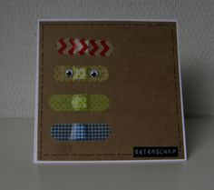 Moostly Cards - Washi Tape - Get Well