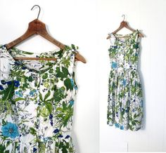 1950s floral print cotton sundress with bows on the shoulders, by McMullen | Flickr - Photo Sharing!