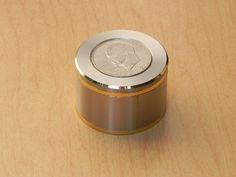 Swiza Ike Silver Dollar Coin Desk Alarm Clock