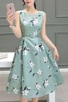 Vestido estampado delicado!!! la primavera es un tiempo de felicidad en donde todo renace igual como tu ropa