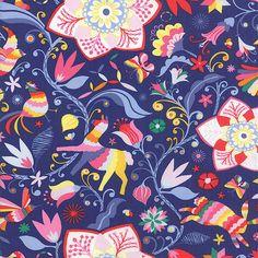 1-Half-Metre-Length-Daydreams-Floral-Print-Fabric-27170-14-Kate-Spain