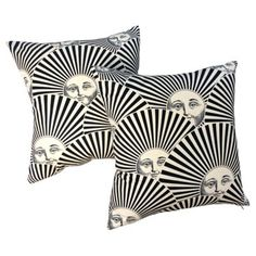 Check out this item at One Kings Lane! Fornasetti Sun Fan Pillows, Pair