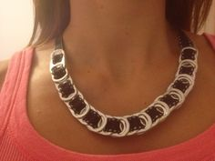 Necklace from pop top cans
