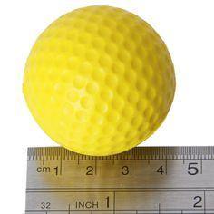 2016 Hot 10pcs Yellow Soft Elastic Indoor Practice PU Golf Ball   #GolfBalls